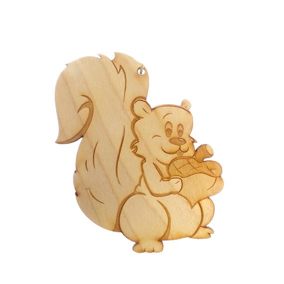 Personalized Squirrel Ornament