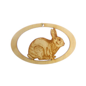 Personalized Rabbit Ornament,