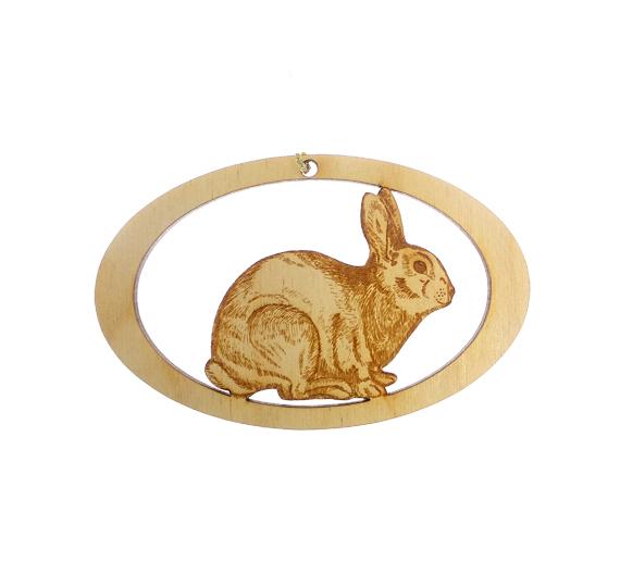 Personalized Rabbit Ornament,