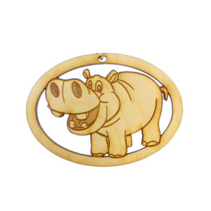 Personalized Hippo Ornament