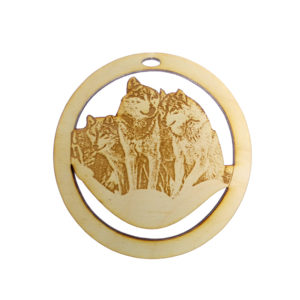 Personalized Wolf Pack Ornament