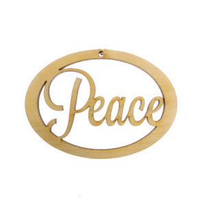 Personalized Peace Ornament