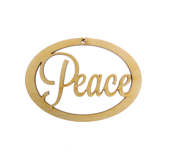 Personalized Peace Ornament