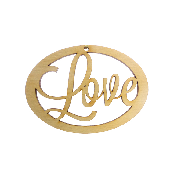 Personalized Love Ornament