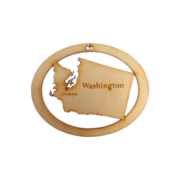 Personalized Washington Ornament