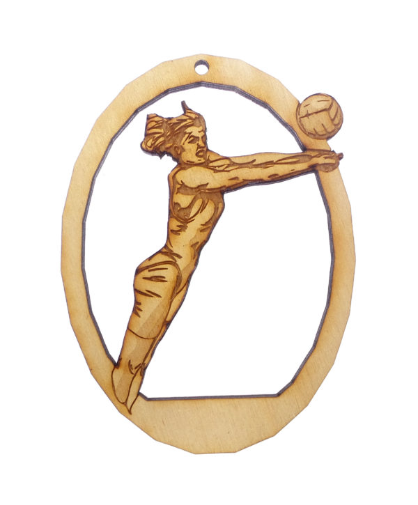 Personalized Womens Volleyball Ornament