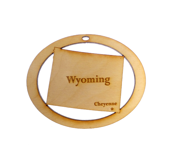 Personalized Wyoming Ornament