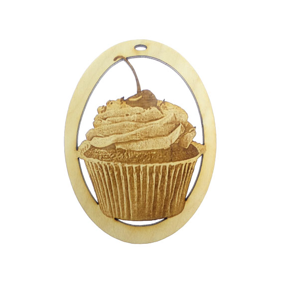Personalized Cupcake Ornament
