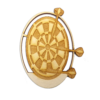 Personalized Dart Board Ornament