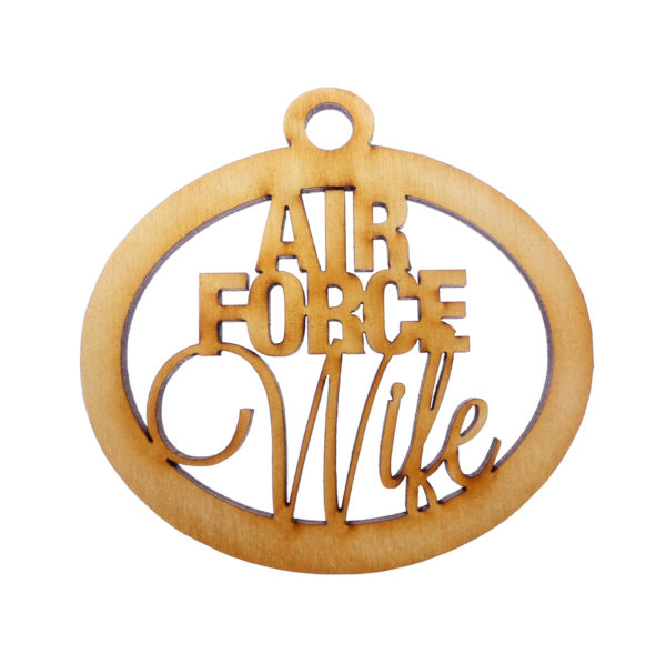 Personalized Air Force Wife Ornament