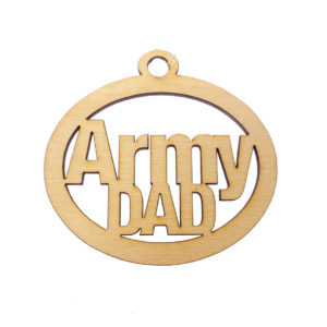 Personalized Army Dad Ornament