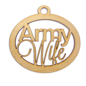 Personalized Army Wife Ornament