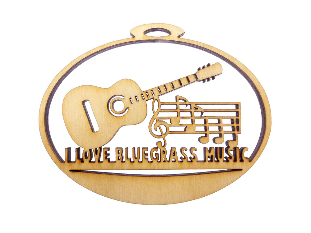 Personalized Bluegrass Christmas Ornament