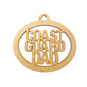 Personalized Coast Guard Dad Ornament