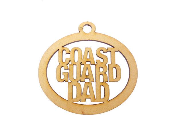 Personalized Coast Guard Dad Ornament