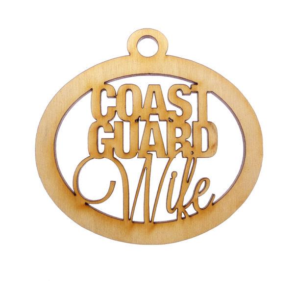 Personalized Coast Guard Wife Ornament