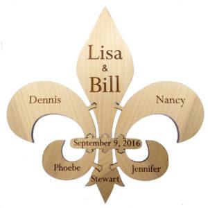 Personalized Fleur de Lis Unity Puzzle