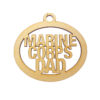Personalized Marine Corps Dad Ornament