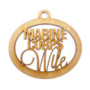 Personalized Marine Corps Wife Ornament