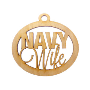 Personalized Navy Wife Ornament