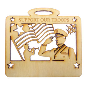 Personalized Support Our Troops Ornament
