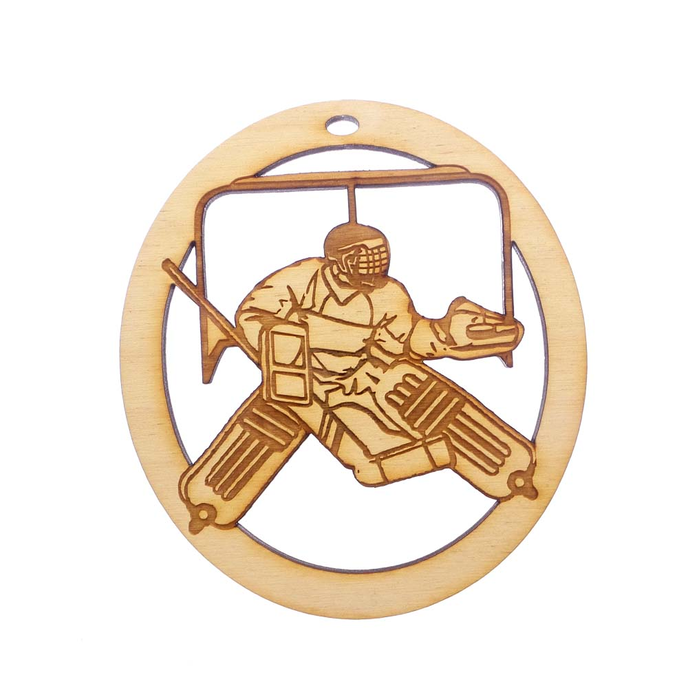 personalized Ice Hockey Goalie Ornament
