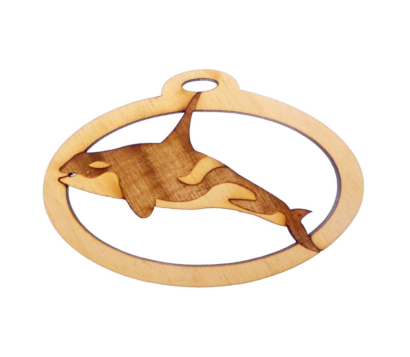 personalized Orca Whale Ornament
