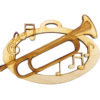 Personalized Bugle Christmas Ornament