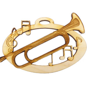 Personalized Bugle Christmas Ornament
