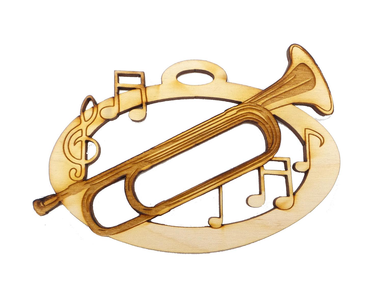 Personalized Bugle Ornament