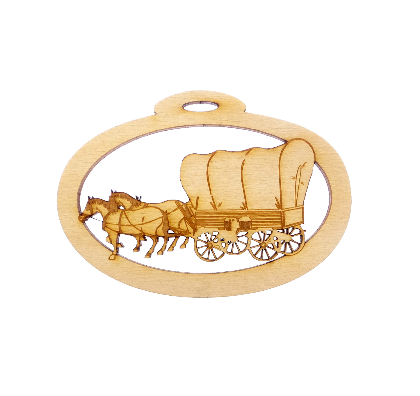 Personalized Covered Wagon Ornament