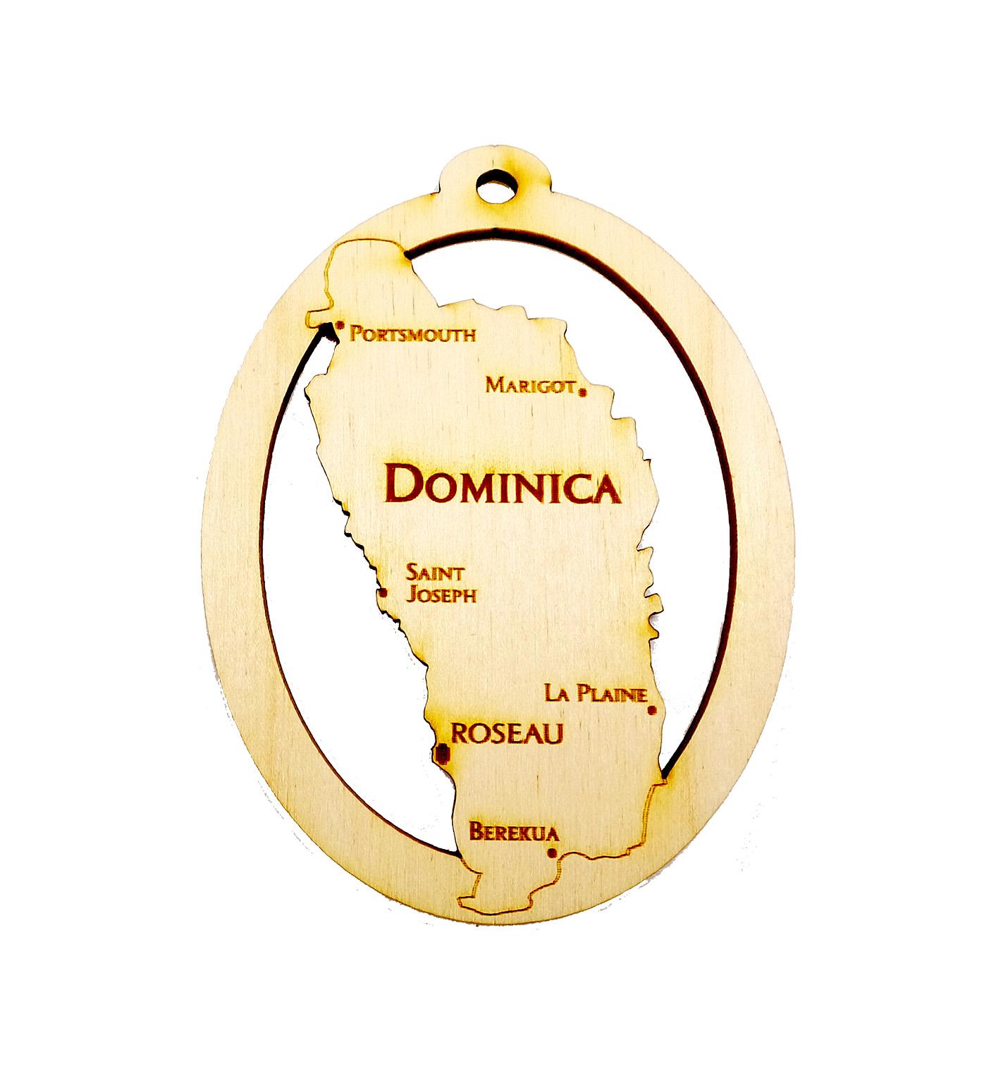 Personalized Dominica Ornaments