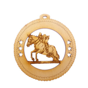 Personalized Horse Jumping Ornament