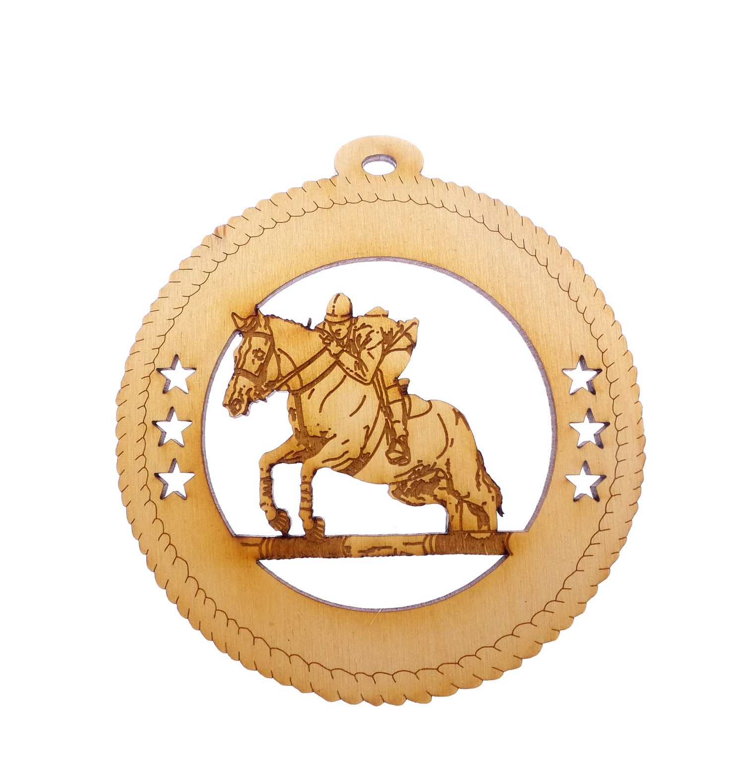 Personalized Horse Show Jumping Ornament