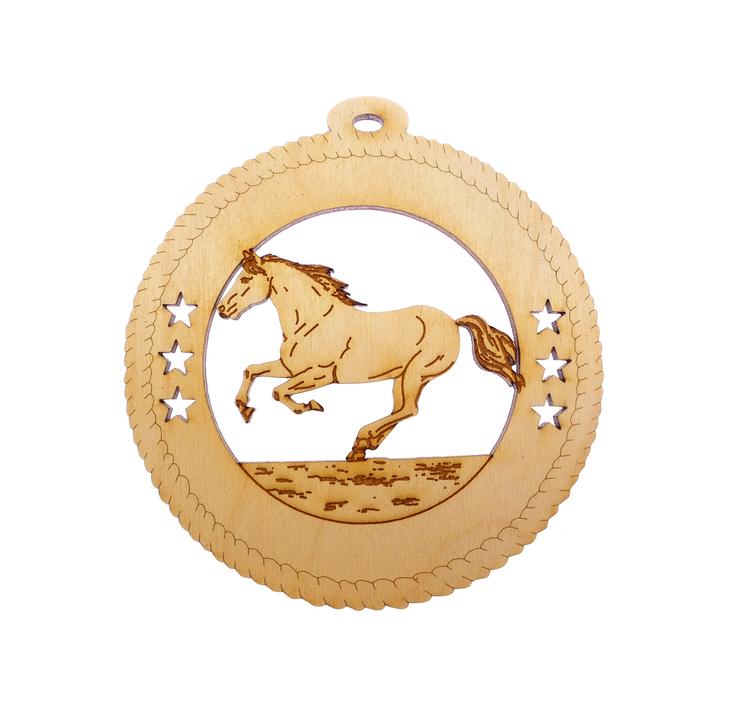 Personalized Horse Rearing Ornament