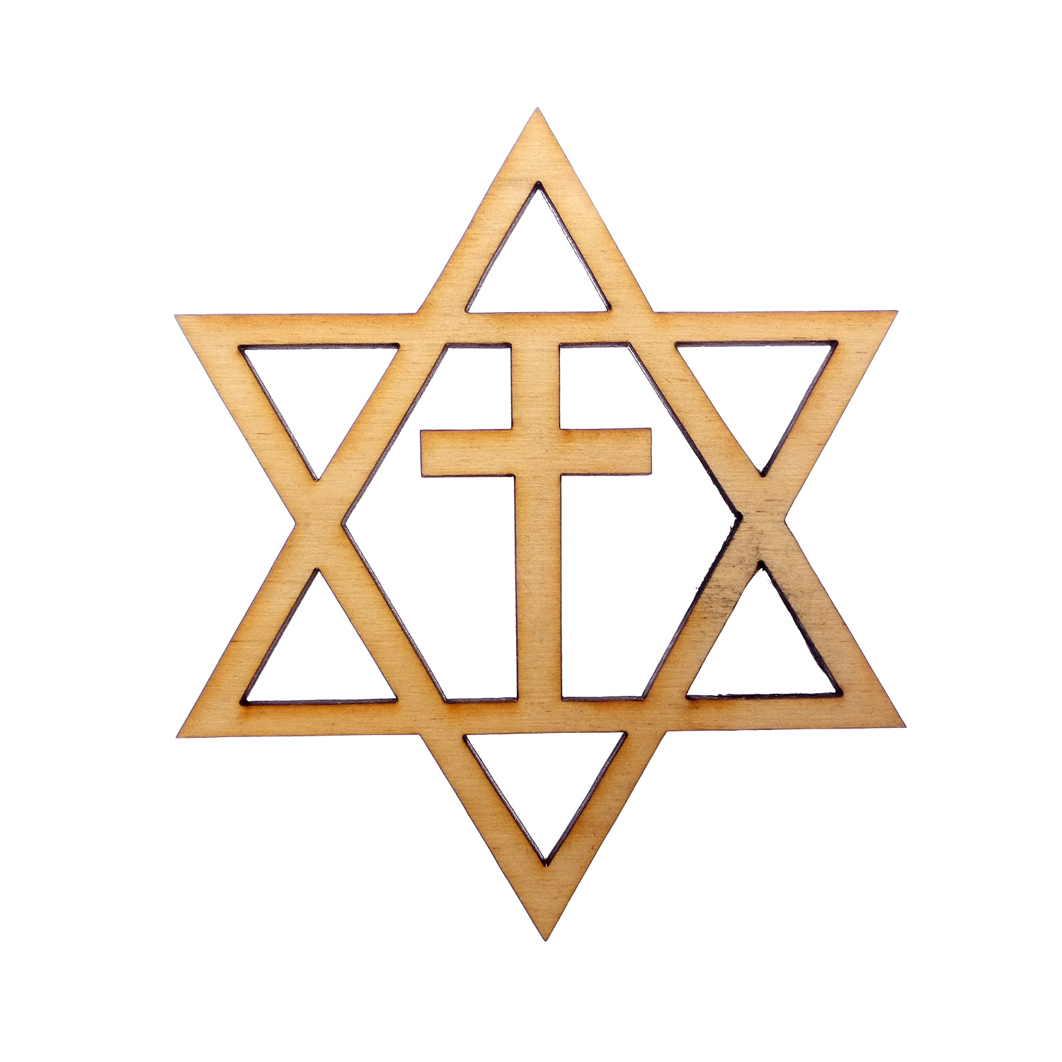 Star of David with cross Ornament
