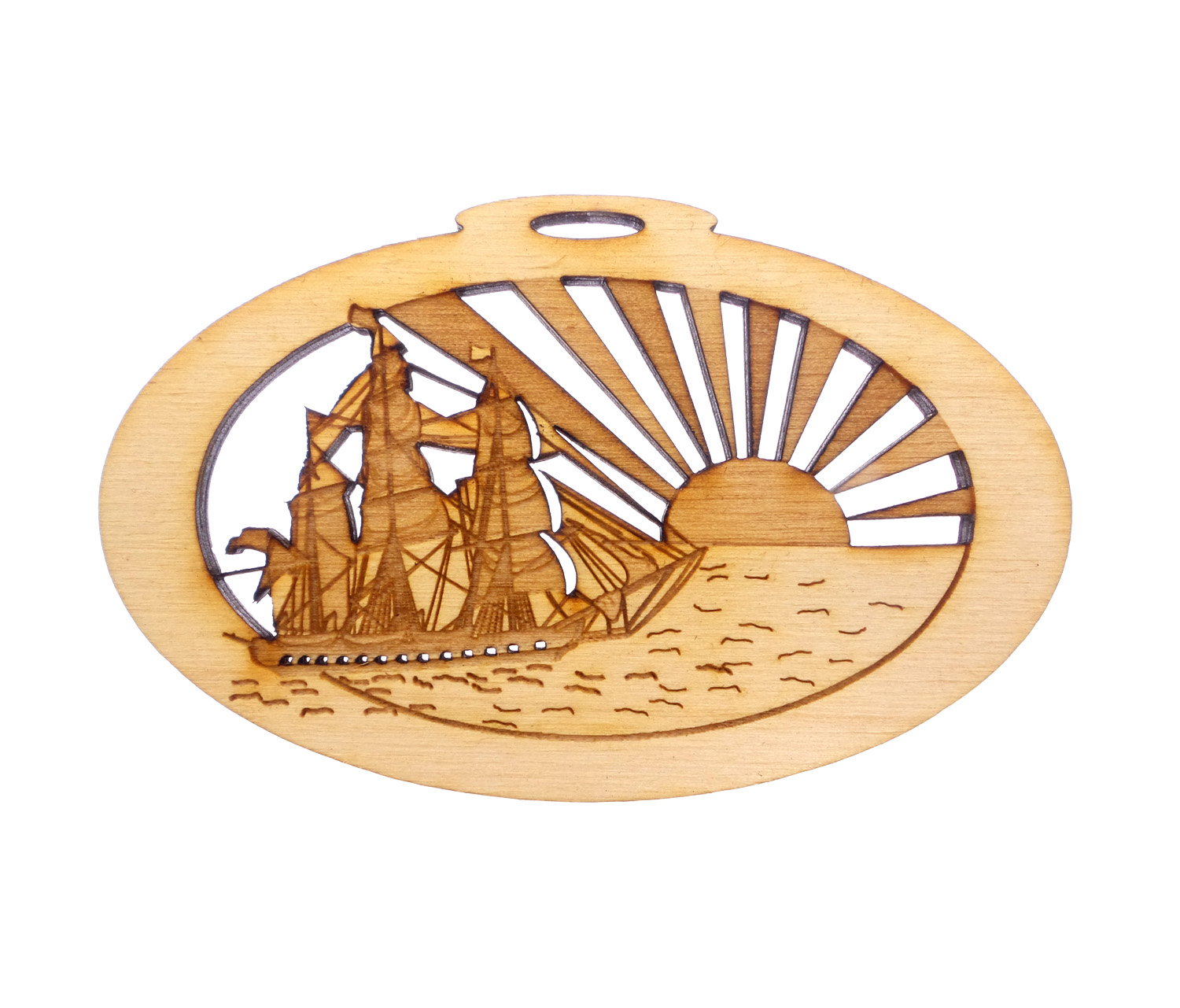 Personalized Tall Ship Ornament