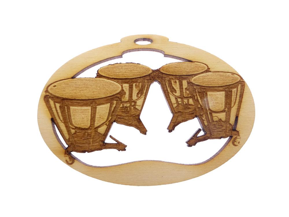 Personalized Timpani Drum Ornament