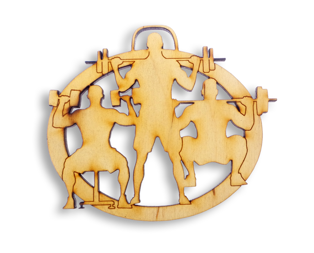Personalized WeightLifting Ornament