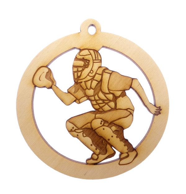 Personalized Baseball Catcher Ornament