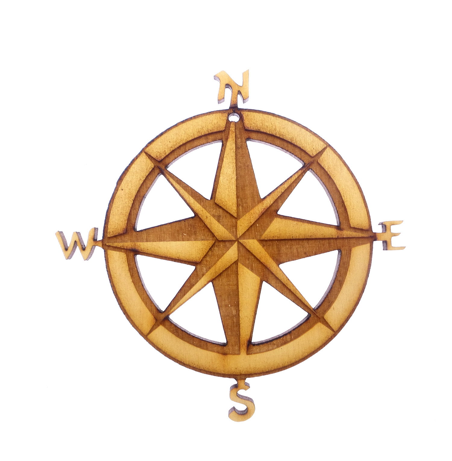 Personalized Compass Christmas Ornament