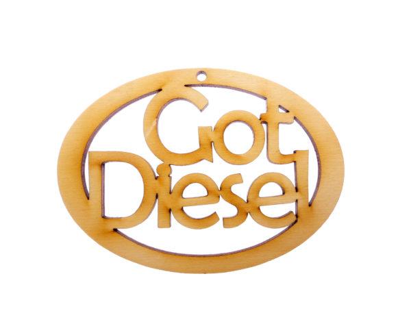 personalized Got Diesel Ornament