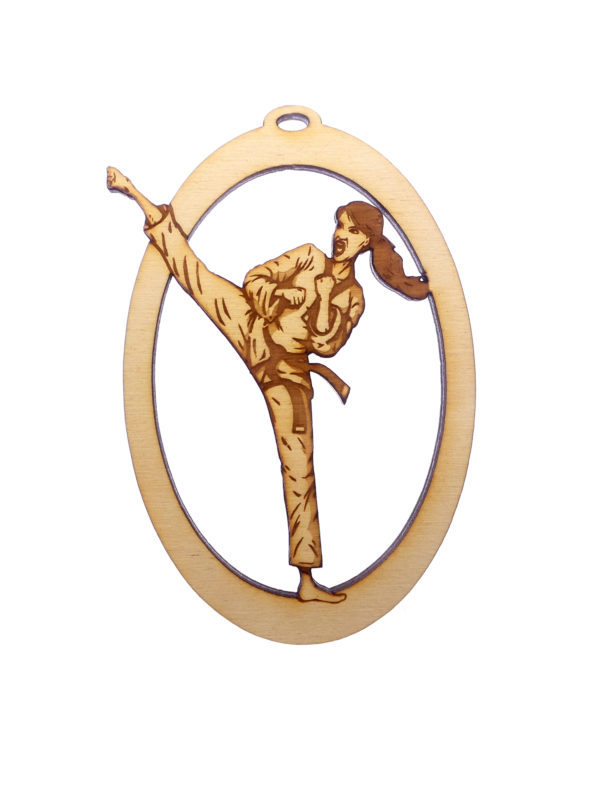 Personalized Womens Karate Ornament