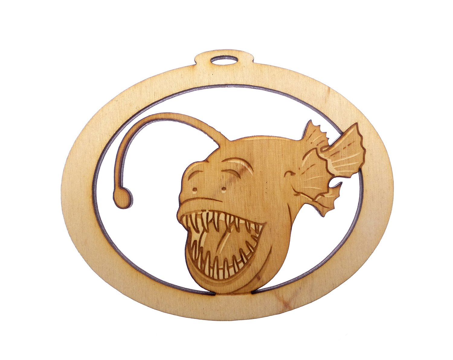 Personalized Angler Fish Ornament