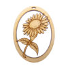 personalized Sunflower Christmas Ornament