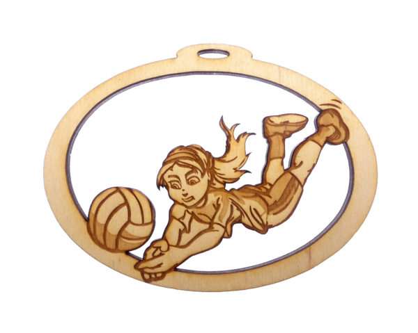 Personalized Girls Volleyball Ornament