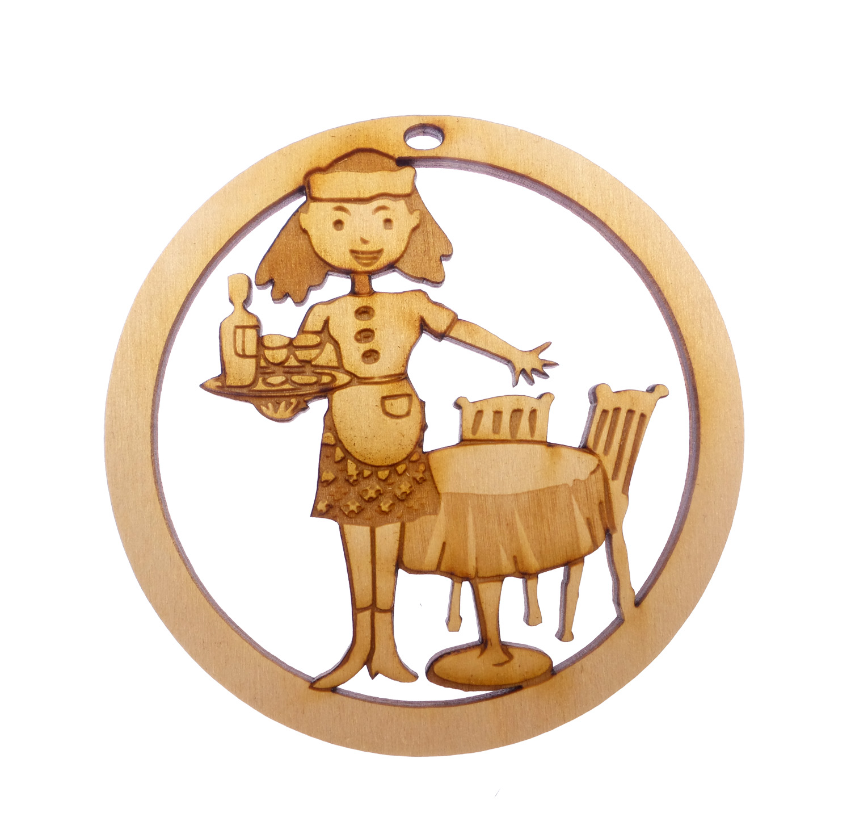 Personalized Waitress Ornament