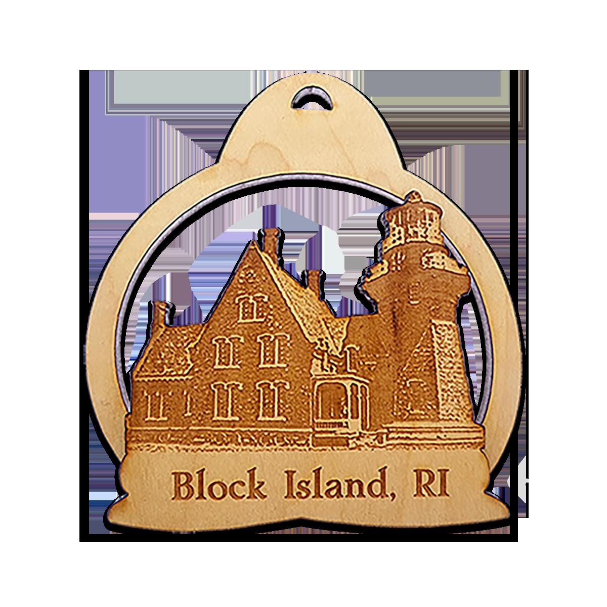 Block Island RI Lighthouse Ornament