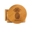 Pineapple Personalized Bamboo Coasters