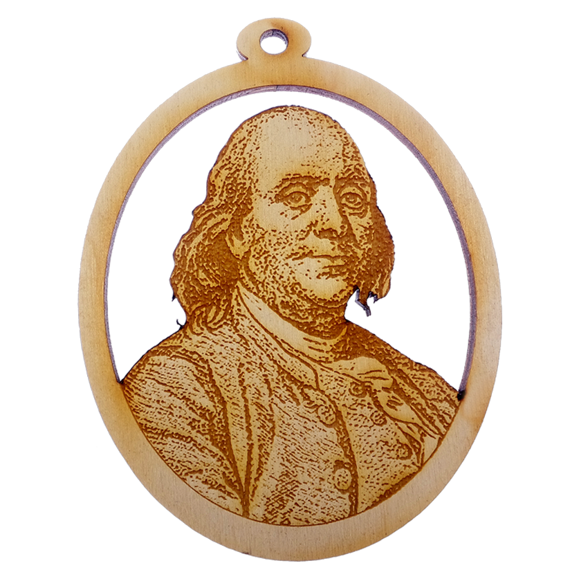 Personalized Benjamin Franklin Ornament
